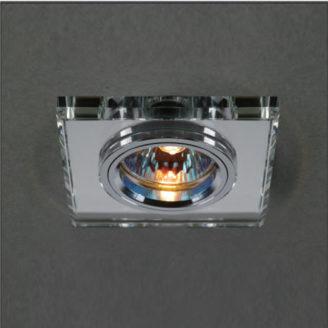 cod 8091 spot emb quad espelhado 4W 9cm